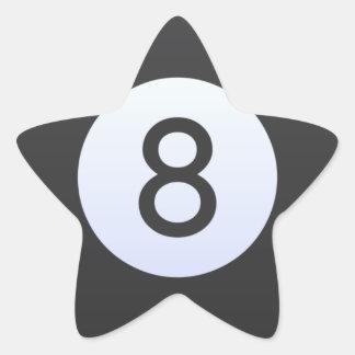 Adesivo Estrela Bola 8