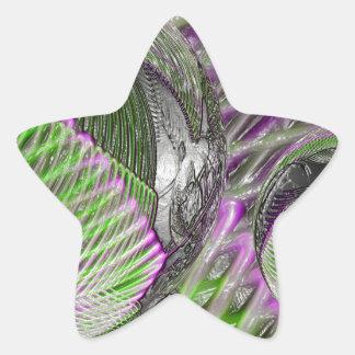Adesivo Estrela Bola de cristal no plástico