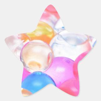 Adesivo Estrela bolas transparentes