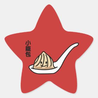 Adesivo Estrela Bolo chinês de Dim Sum da bolinha de massa da sopa