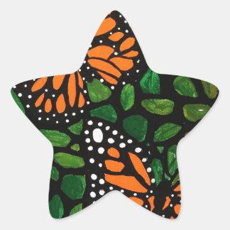 Adesivo Estrela borboletas