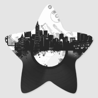 Adesivo Estrela branco do vinil da skyline da cidade de San