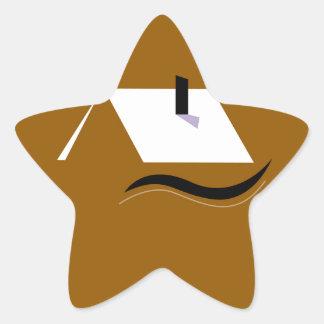 Adesivo Estrela Branco home do ouro do design