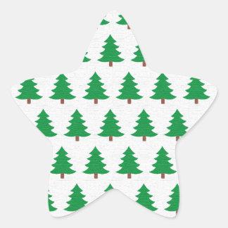 Adesivo Estrela branco novo do verde do design do Natal