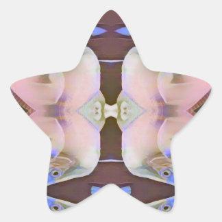 Adesivo Estrela Brandamente rosa com acentos da pervinca de Brown