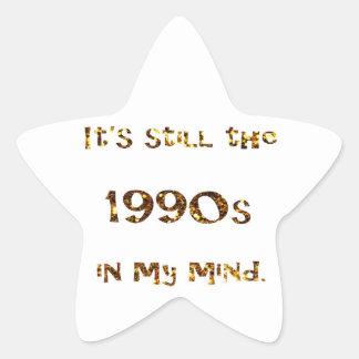 Adesivo Estrela brilho do ouro da nostalgia dos anos 90