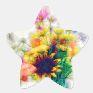 Adesivo Estrela Buquê do Wildflower do verão