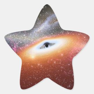 Adesivo Estrela Buraco negro maciço de NASAs