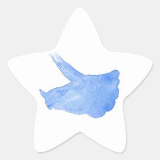 Adesivo Estrela Cabeça azul do Triceratops