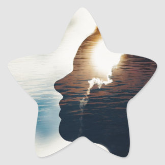 Adesivo Estrela Cabeça leve