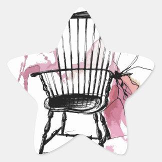 Adesivo Estrela Cadeira de Windsor