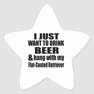 Adesivo Estrela Cair com meu Retriever Liso-Revestido