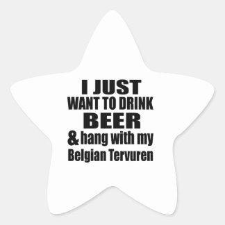 Adesivo Estrela Cair com meu Tervuren belga