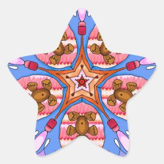 Adesivo Estrela Caleidoscópio dos ursos e das abelhas