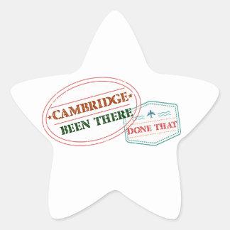Adesivo Estrela Cambridge feito lá isso