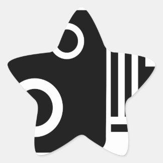 Adesivo Estrela Câmera isolada da velocidade