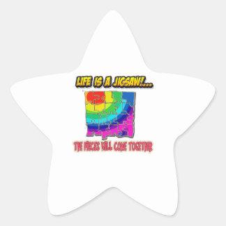 Adesivo Estrela camisa da serra de vaivém