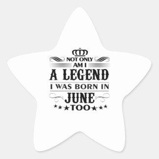Adesivo Estrela Camiseta das legendas do mês de junho