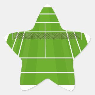Adesivo Estrela Campo de ténis
