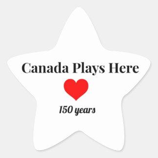 Adesivo Estrela Canadá 150 em 2017 Canadá joga aqui