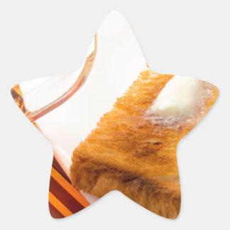 Adesivo Estrela Caneca de chá e de brinde quente com manteiga