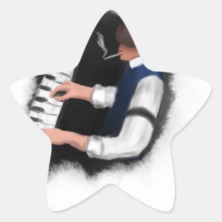 Adesivo Estrela Cantor do piano
