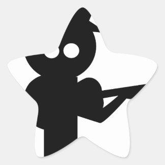 Adesivo Estrela Cantor popular do menino