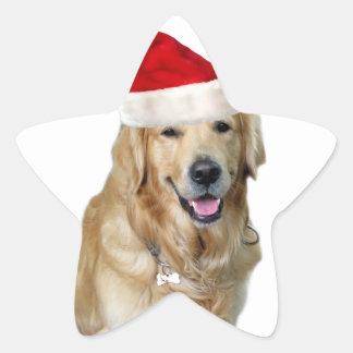 Adesivo Estrela Cão-animal de estimação do cão-papai noel de claus