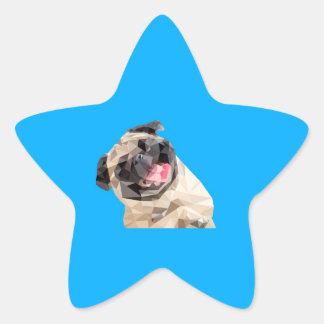 Adesivo Estrela Cão bonito dos espanadores