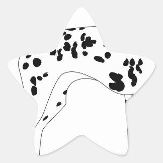 Adesivo Estrela Cão de Dalmation