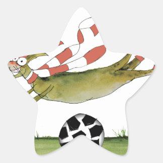 Adesivo Estrela cão do futebol dos vermelhos