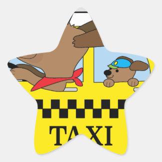 Adesivo Estrela Cão do táxi de New York