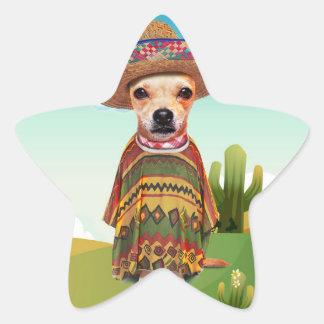 Adesivo Estrela Cão mexicano, chihuahua