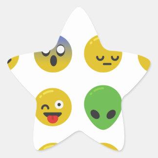Adesivo Estrela Cara feliz de Emoji