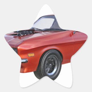 Adesivo Estrela carro vermelho do músculo dos anos 70