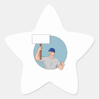 Adesivo Estrela Cartaz Circ de protesto do activista do