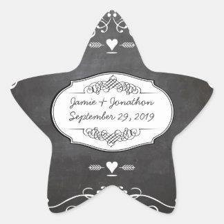 Adesivo Estrela Casamentos da tipografia do quadro