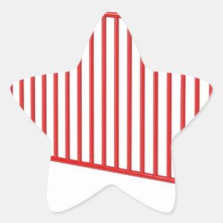Adesivo Estrela Cerca móvel vermelha