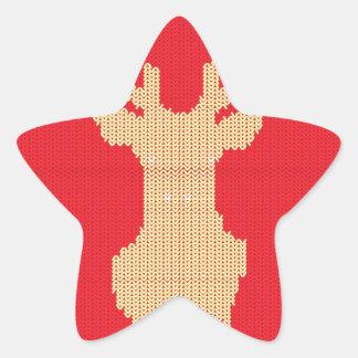 Adesivo Estrela Cervos feitos malha