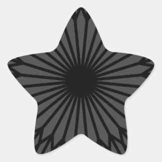 Adesivo Estrela Chakra escuro