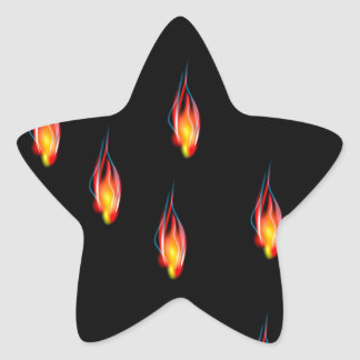 Adesivo Estrela Chamas do fogo