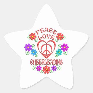 Adesivo Estrela Cheerleading do amor da paz