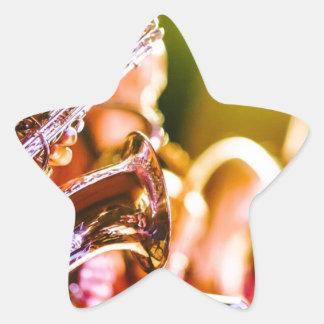 Adesivo Estrela Chifres dos saxofones dos instrumentos musicais da