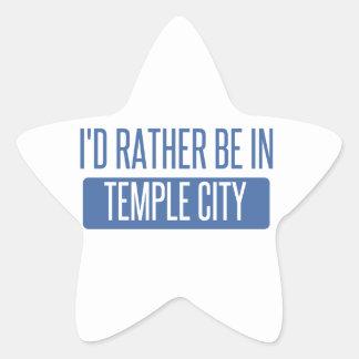 Adesivo Estrela Cidade do templo
