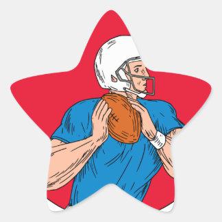 Adesivo Estrela Cir pronto da bola do lance do estratego do