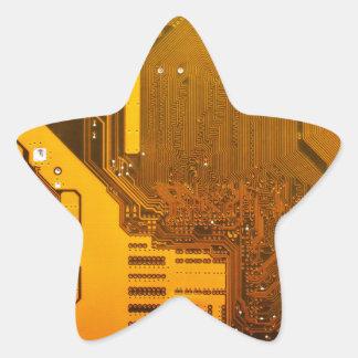 Adesivo Estrela circuito eletrônico amarelo board.JPG