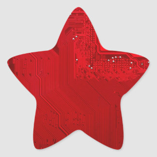 Adesivo Estrela circuito eletrônico vermelho board.JPG