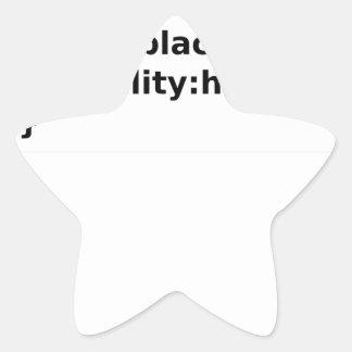 Adesivo Estrela Classe do CSS do codificador de Ninja