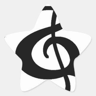 Adesivo Estrela Clef de triplo