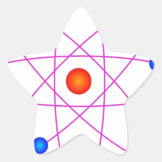 Adesivo Estrela clipart modelo do vetor do átomo